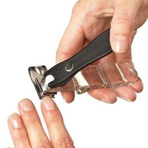 EZ Grip 360 Degree Rotary Stainless Steel Sharp Blade Fingernail Toenail Clipper